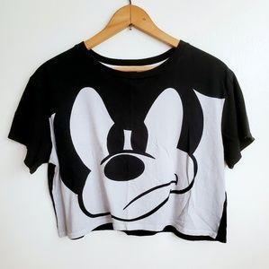 "Disney | Divided | ""Mean Muggin"" Mickey Crop Top"